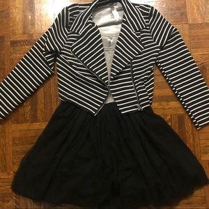 Girls tulle rocker dress